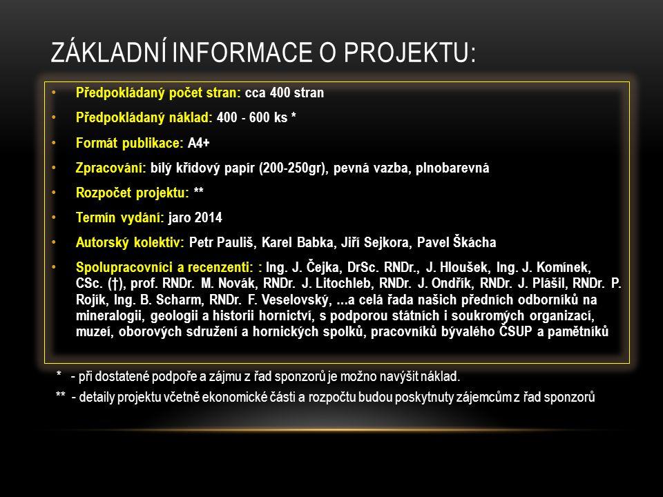 Základní informace o projektu: