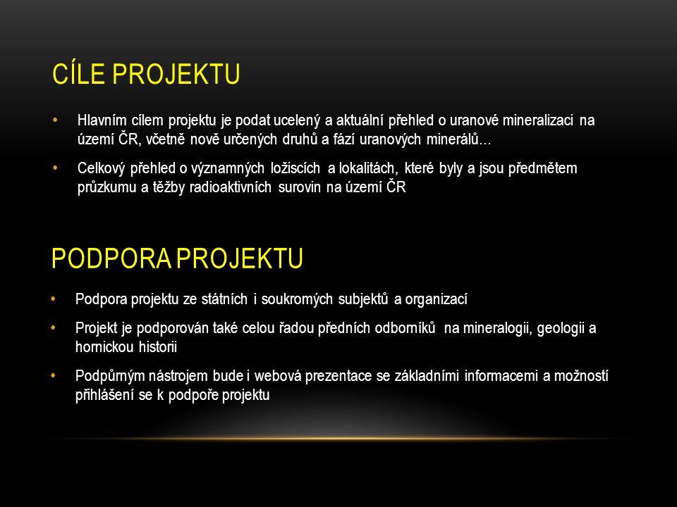 Cíle projektu podpora projektu