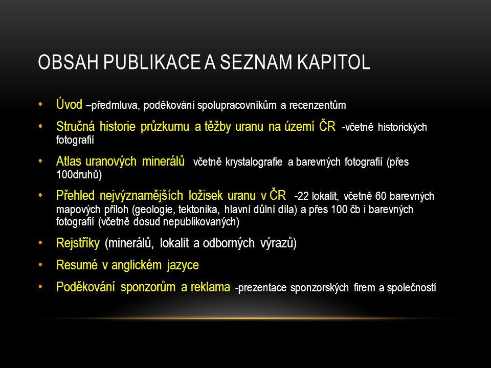 Obsah publikace a seznam kapitol