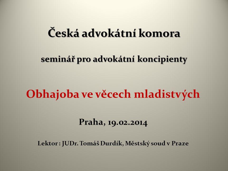 Česká advokátní komora seminář pro advokátní koncipienty