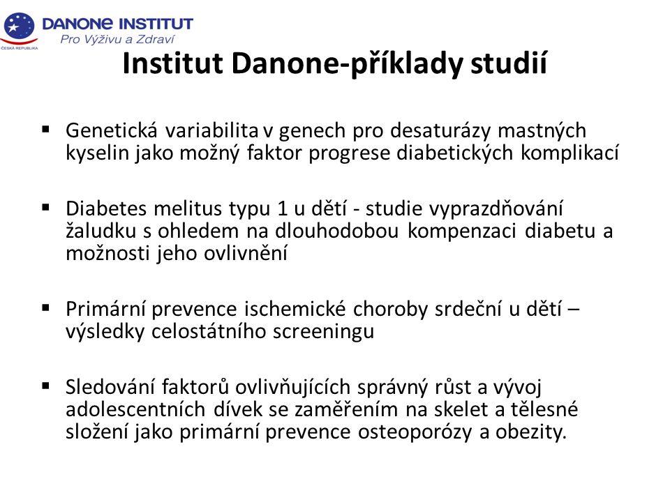 Institut Danone-příklady studií