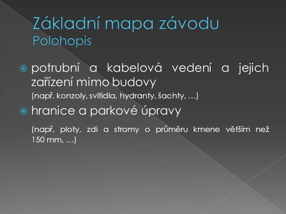 Základní mapa závodu Polohopis