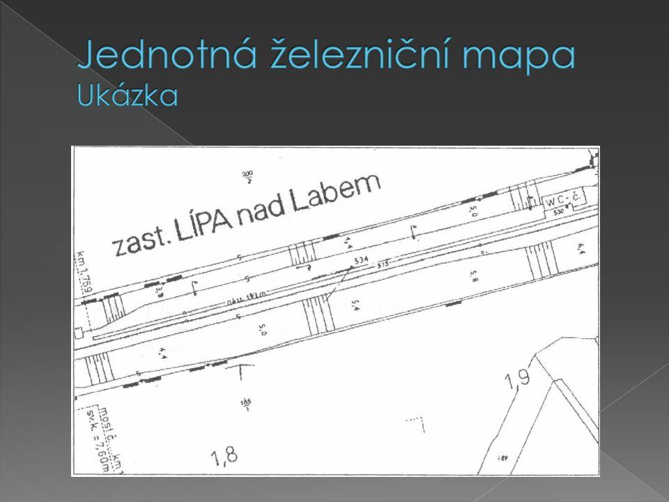 Jednotná železniční mapa Ukázka
