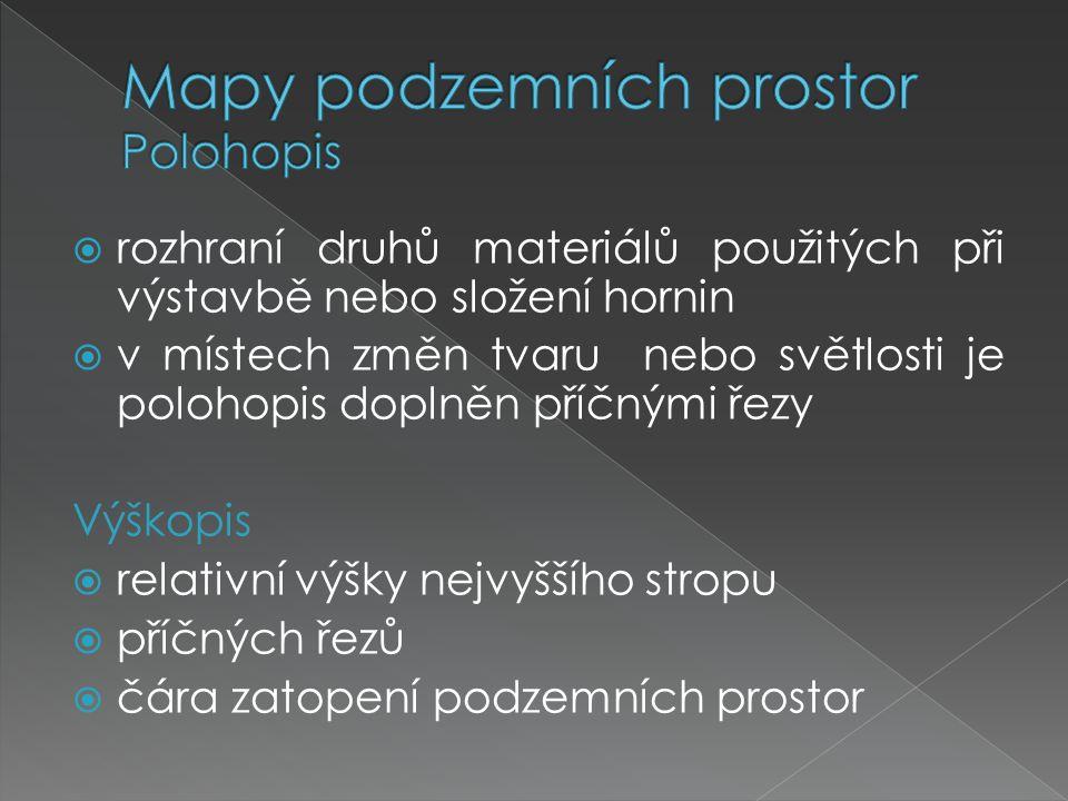 Mapy podzemních prostor Polohopis