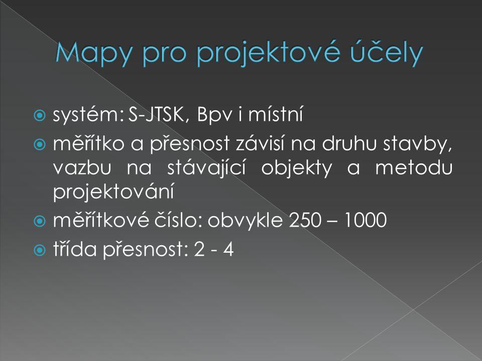 Mapy pro projektové účely