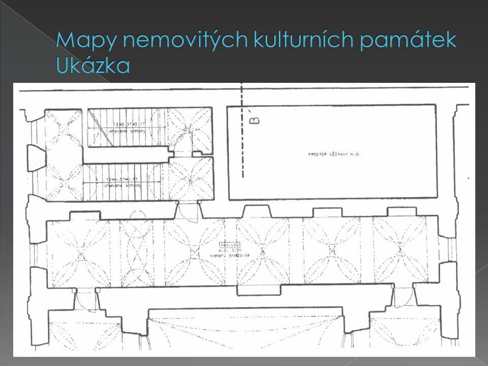 Mapy nemovitých kulturních památek Ukázka