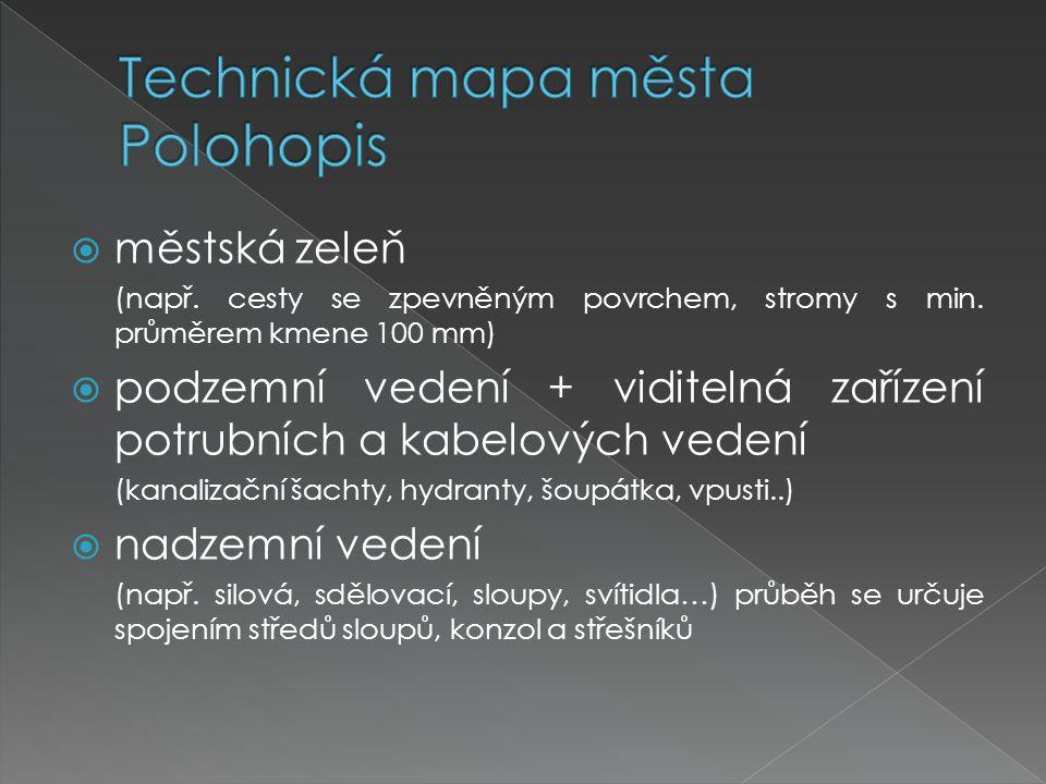 Technická mapa města Polohopis