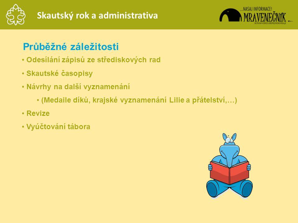Skautský rok a administrativa