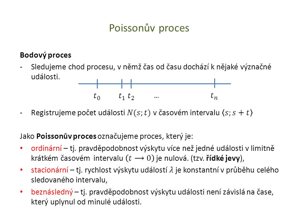 Poissonův proces Bodový proces