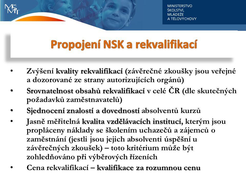Propojení NSK a rekvalifikací