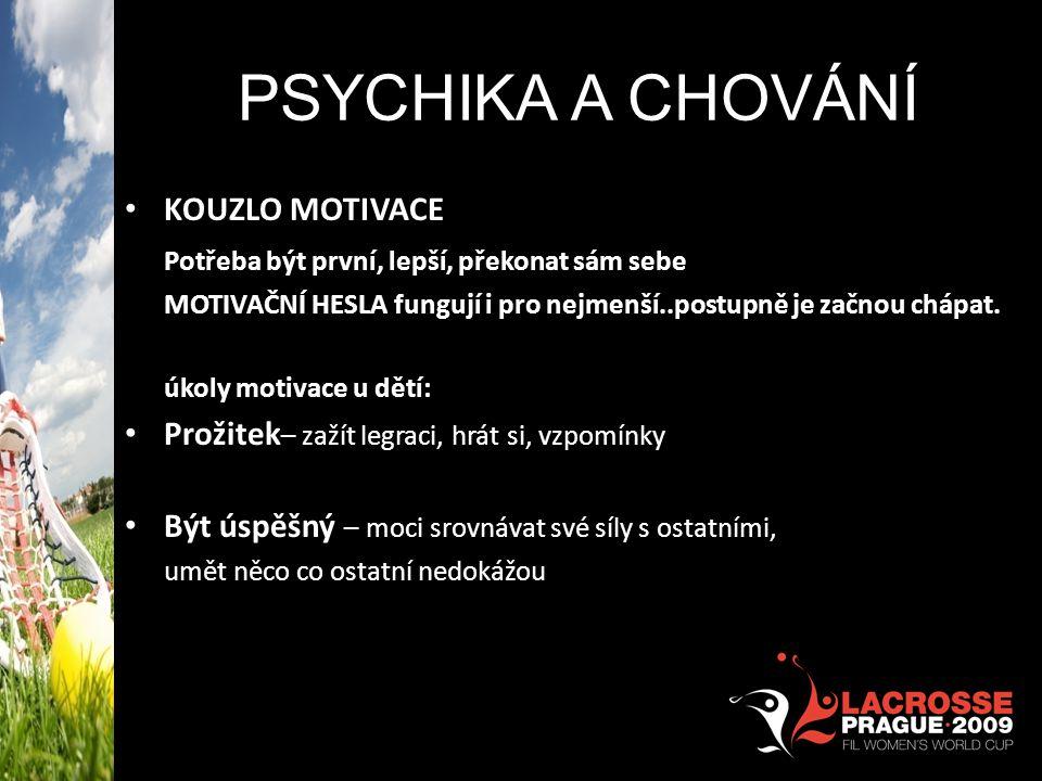 PSYCHIKA A CHOVÁNÍ KOUZLO MOTIVACE
