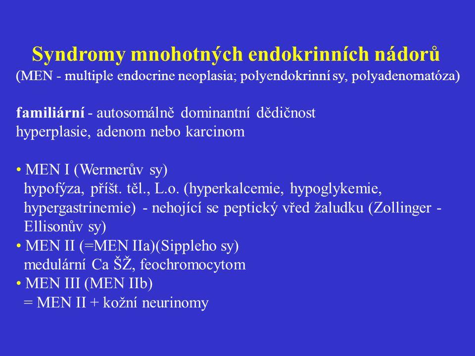 Syndromy mnohotných endokrinních nádorů