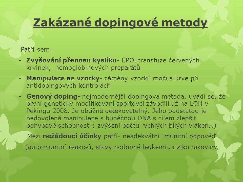 Zakázané dopingové metody