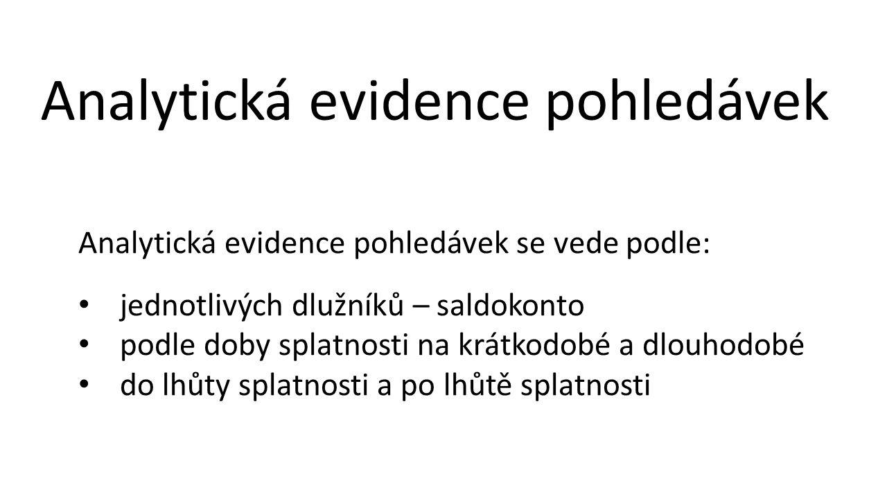 Analytická evidence pohledávek