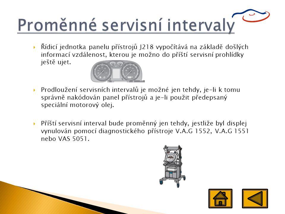 Proměnné servisní intervaly