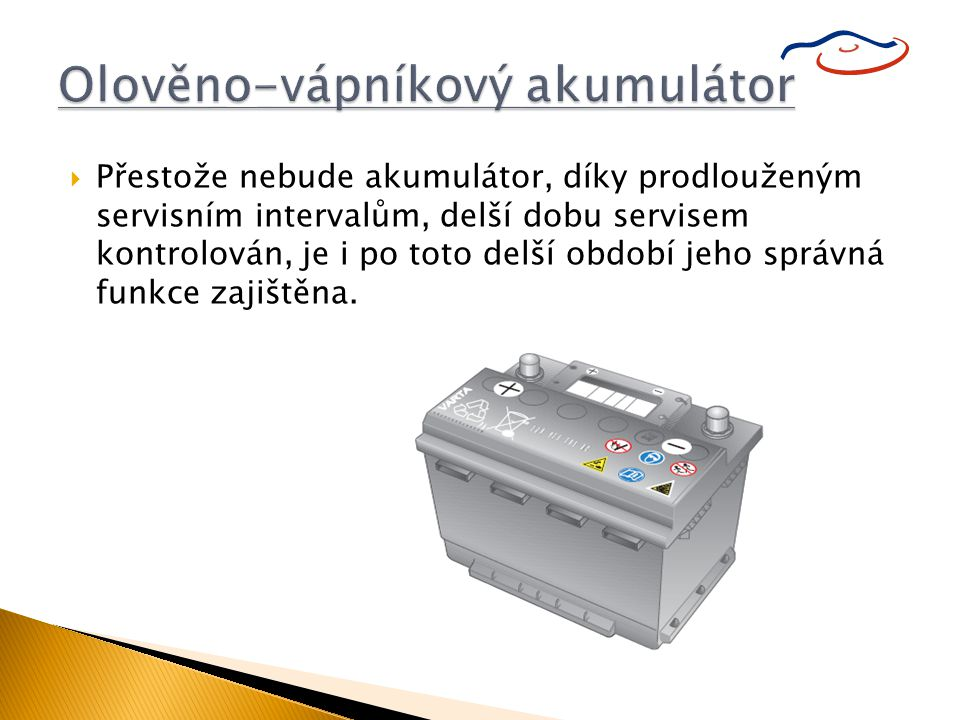 Olověno-vápníkový akumulátor