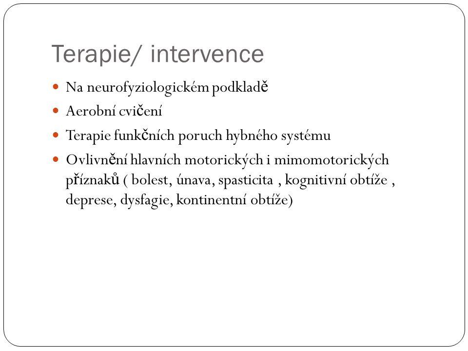 Terapie/ intervence Na neurofyziologickém podkladě Aerobní cvičení
