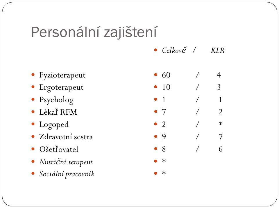 Personální zajištení Fyzioterapeut Ergoterapeut Psycholog Lékař RFM