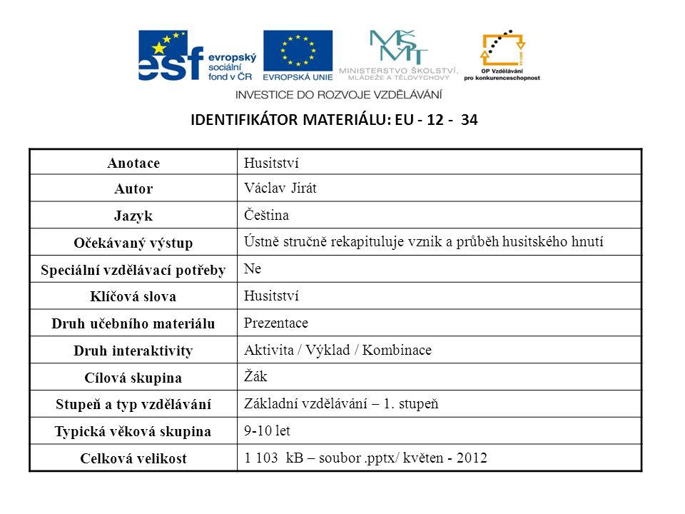Identifikátor materiálu: EU - 12 - 34