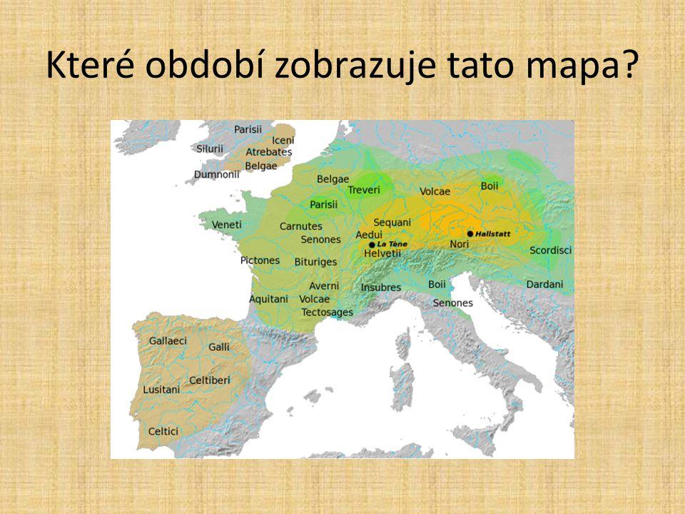 Které období zobrazuje tato mapa