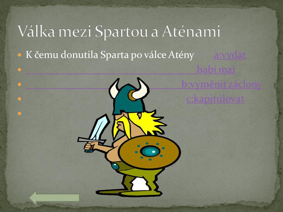 Válka mezi Spartou a Aténami