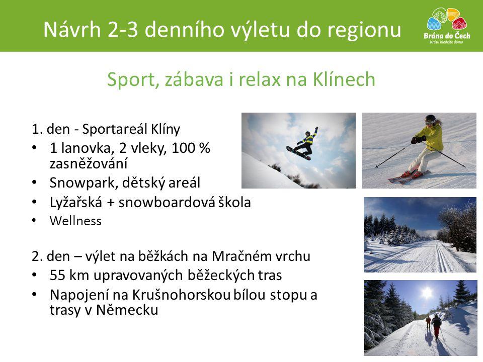 Sport, zábava i relax na Klínech