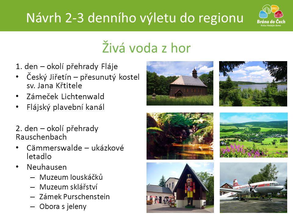 Návrh 2-3 denního výletu do regionu