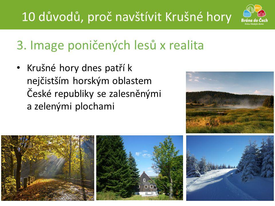 3. Image poničených lesů x realita