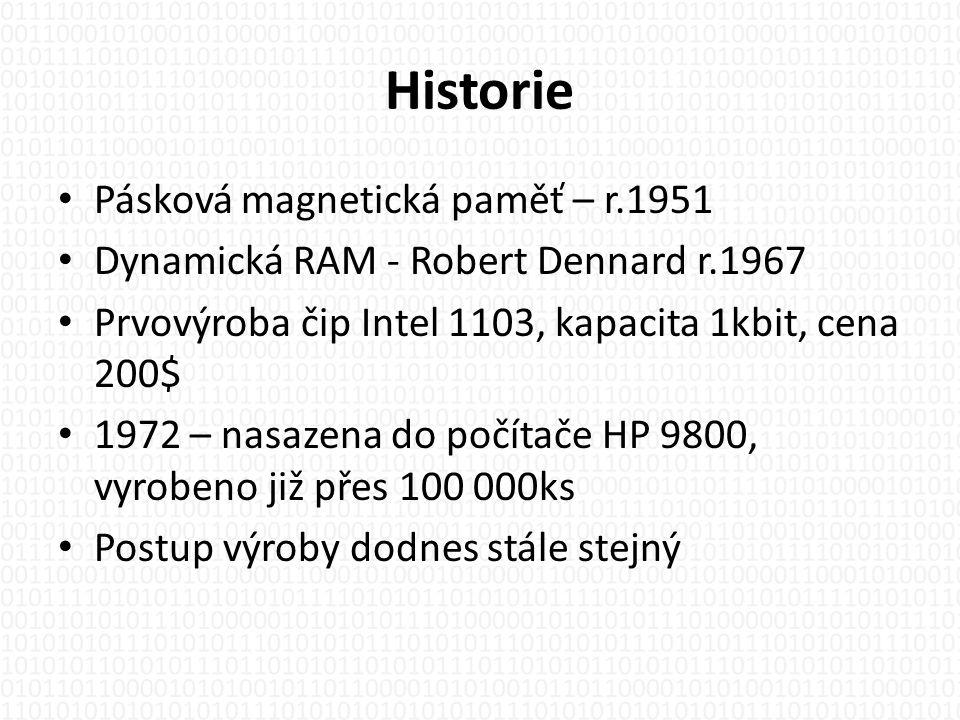 Historie Pásková magnetická paměť – r.1951