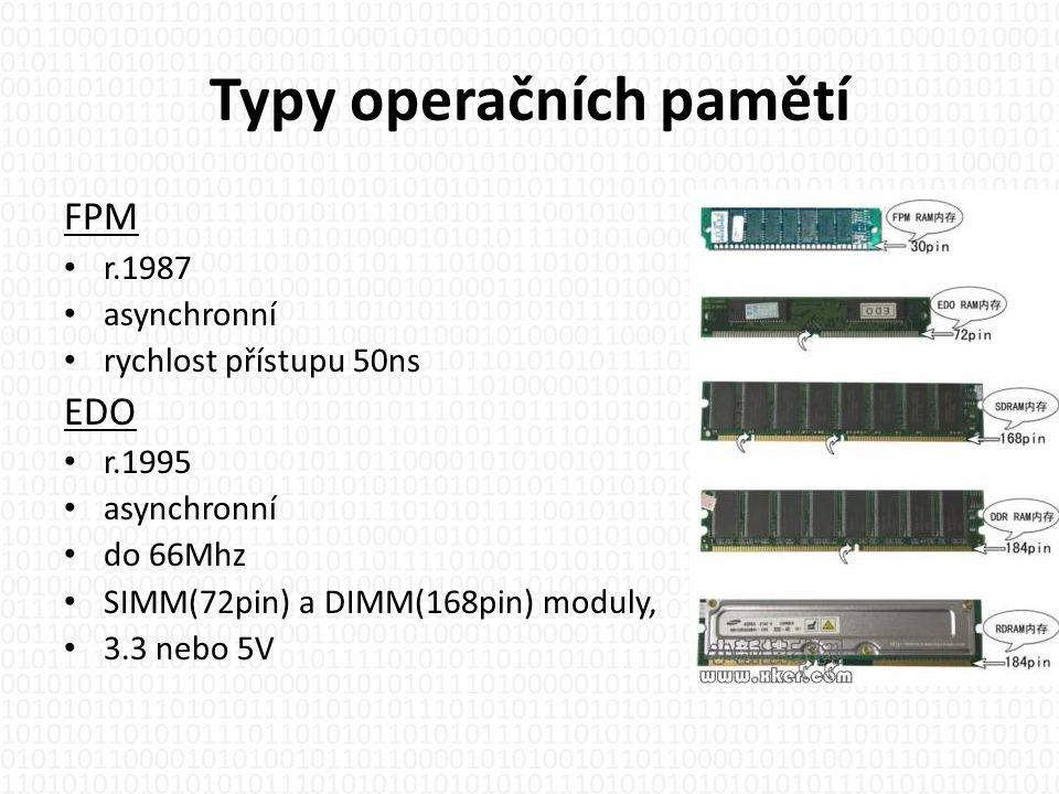 Typy operačních pamětí