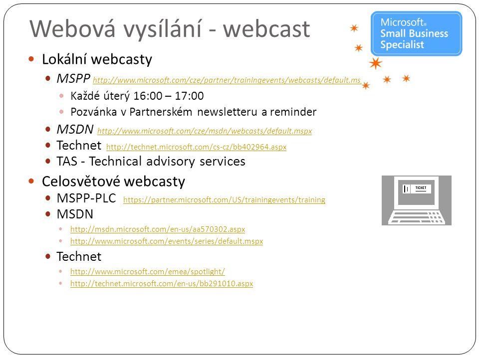 Webová vysílání - webcast