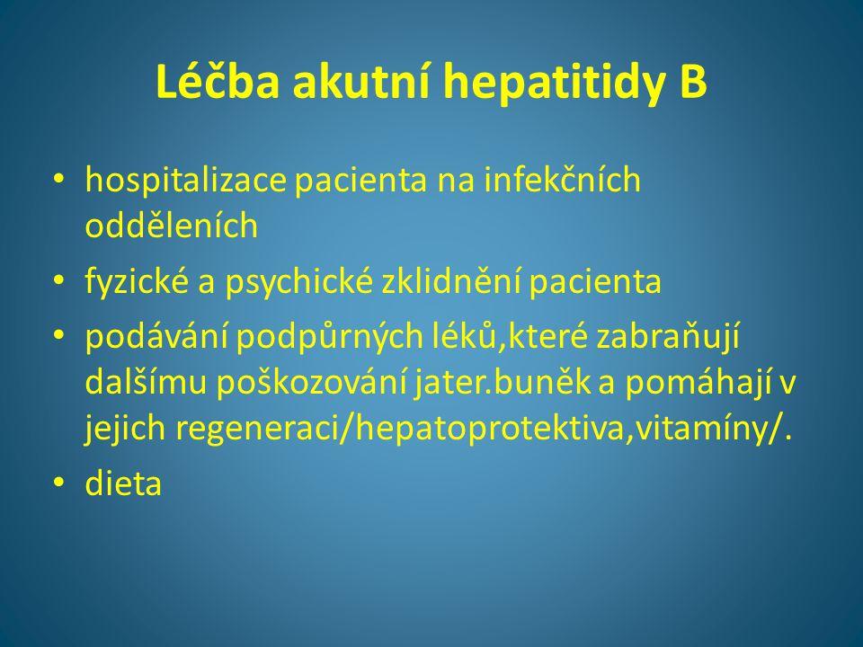 Léčba akutní hepatitidy B