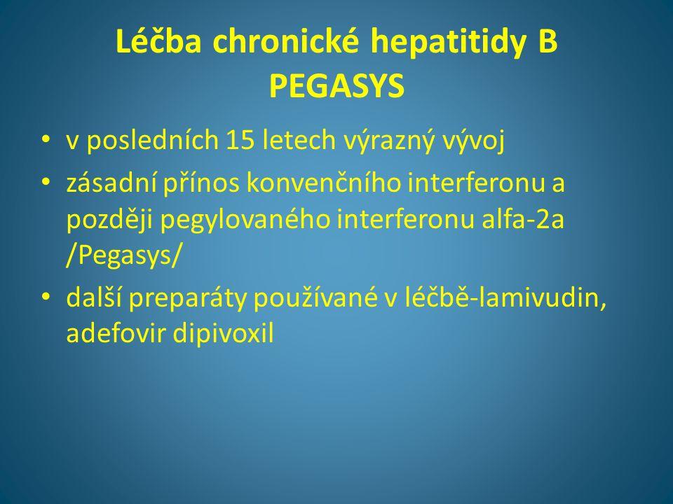Léčba chronické hepatitidy B PEGASYS