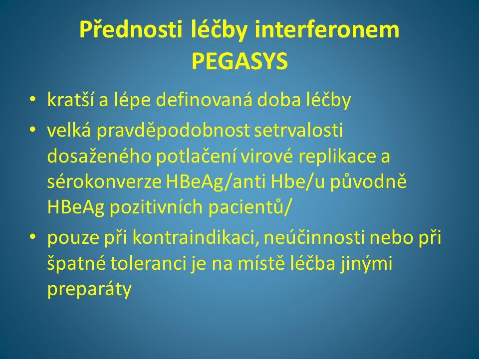 Přednosti léčby interferonem PEGASYS