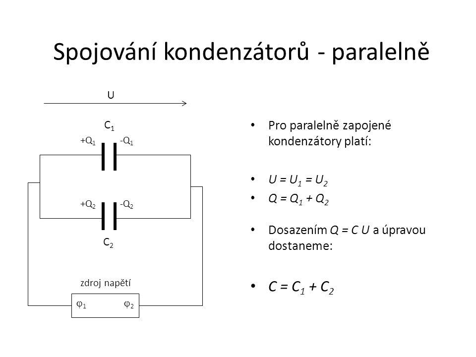 Spojování kondenzátorů - paralelně