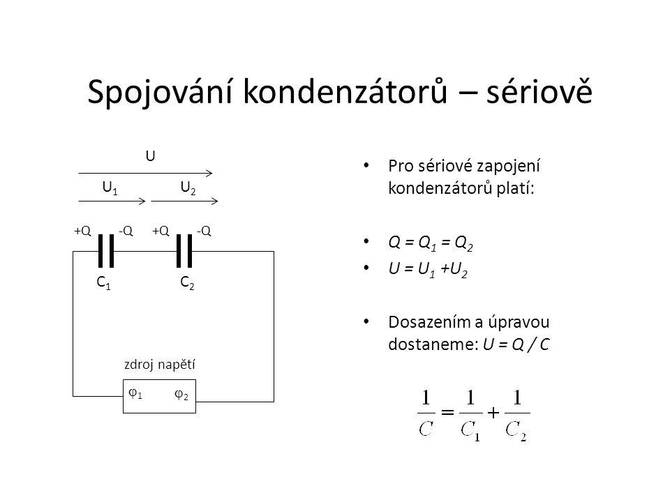 Spojování kondenzátorů – sériově