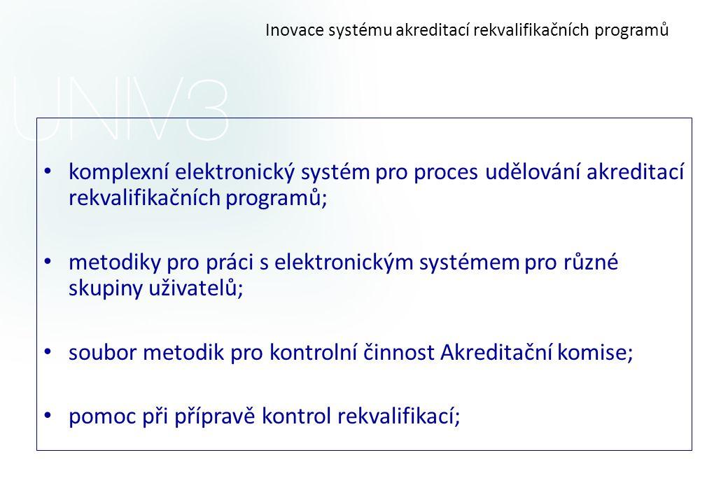 Inovace systému akreditací rekvalifikačních programů