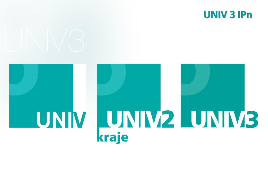UNIV 3 IPn Doplnit logy všech 3. projektů UNIV, UNIV 2 KRAJE, UNIV 3