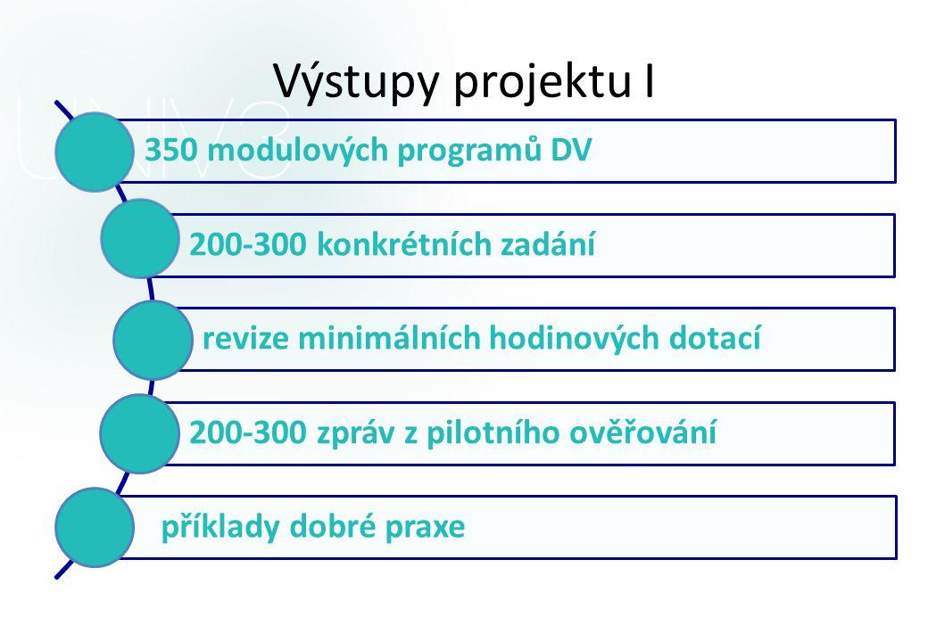 Výstupy projektu I 350 modulových programů DV