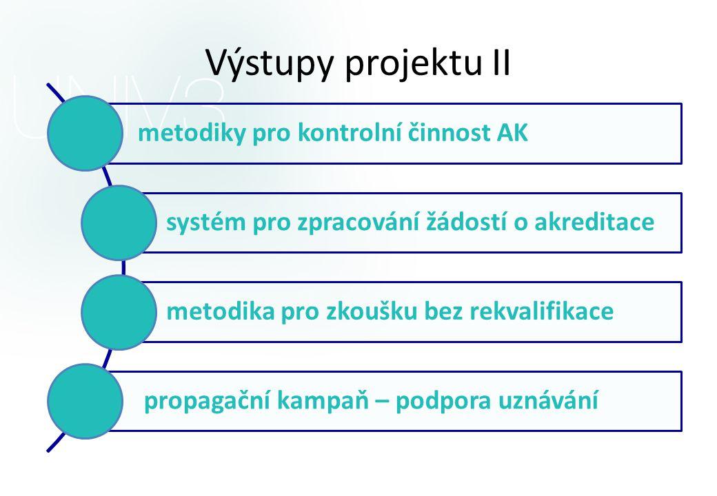 Výstupy projektu II systém pro zpracování žádostí o akreditace