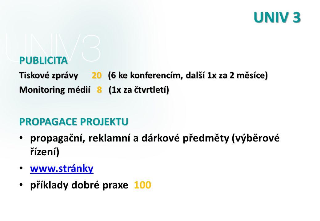 UNIV 3 PUBLICITA PROPAGACE PROJEKTU