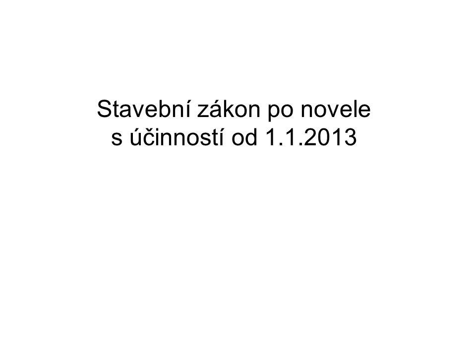 Stavební zákon po novele s účinností od 1.1.2013