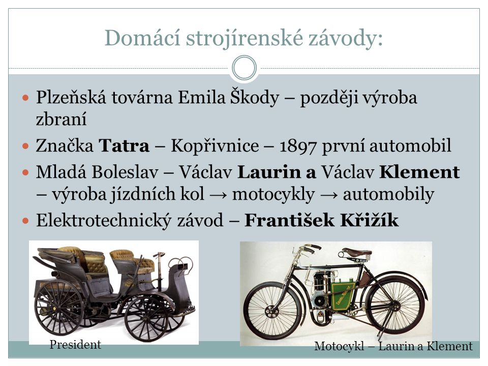 Domácí strojírenské závody: