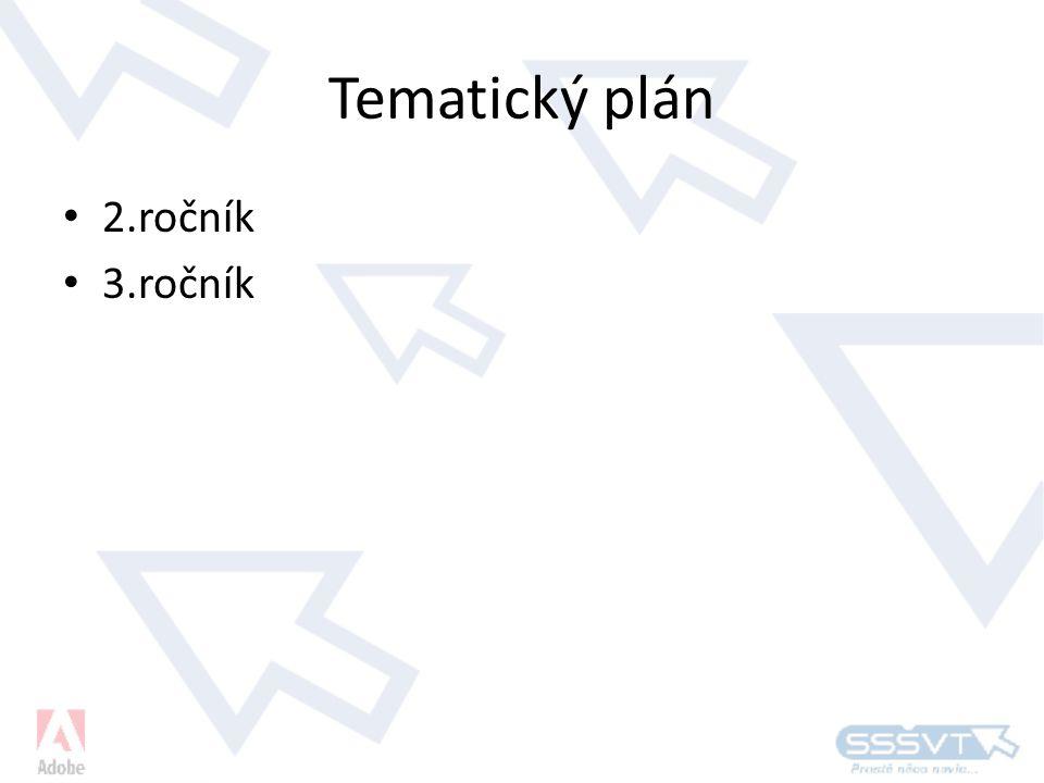 Tematický plán 2.ročník 3.ročník