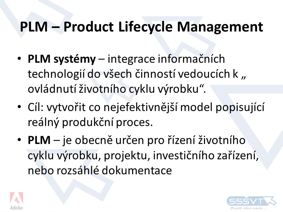 PLM – Product Lifecycle Management