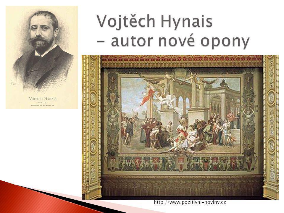 Vojtěch Hynais - autor nové opony