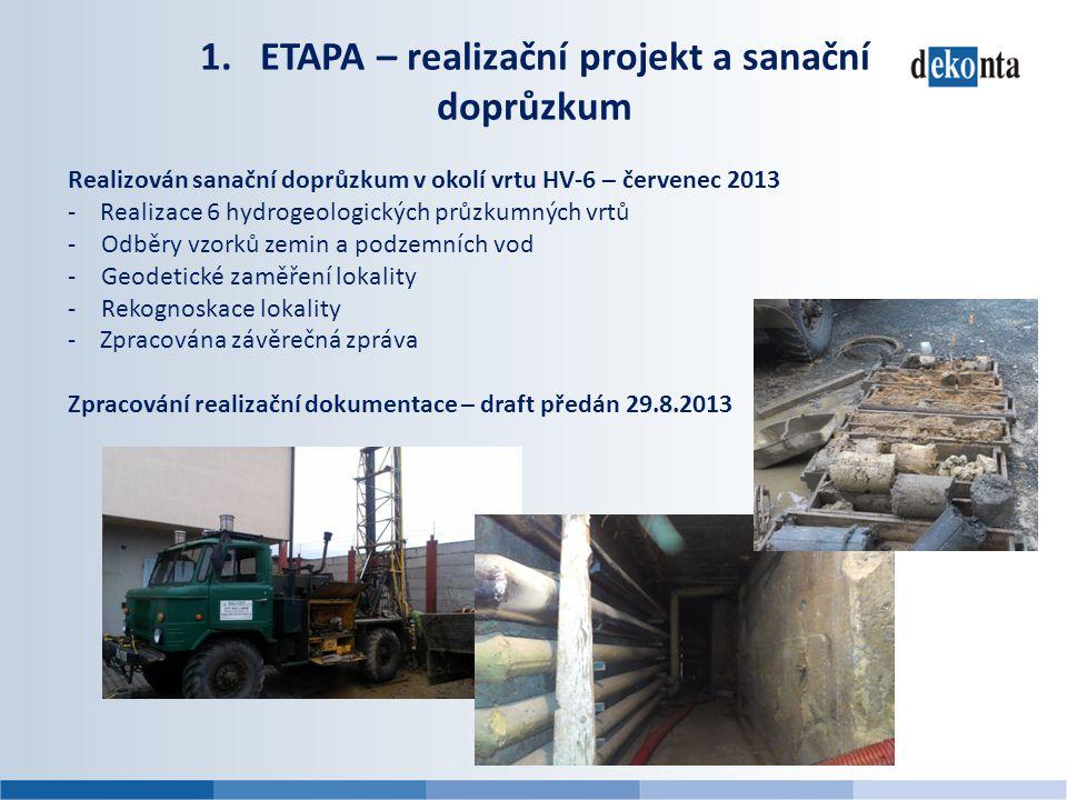 ETAPA – realizační projekt a sanační