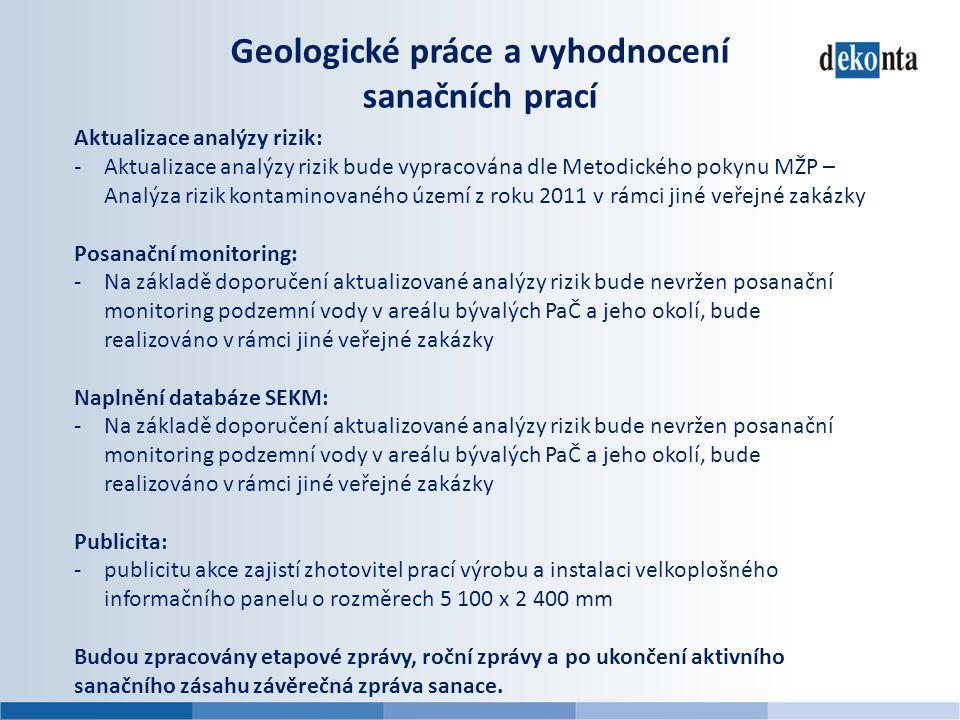 Geologické práce a vyhodnocení