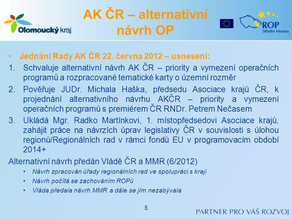 AK ČR – alternativní návrh OP