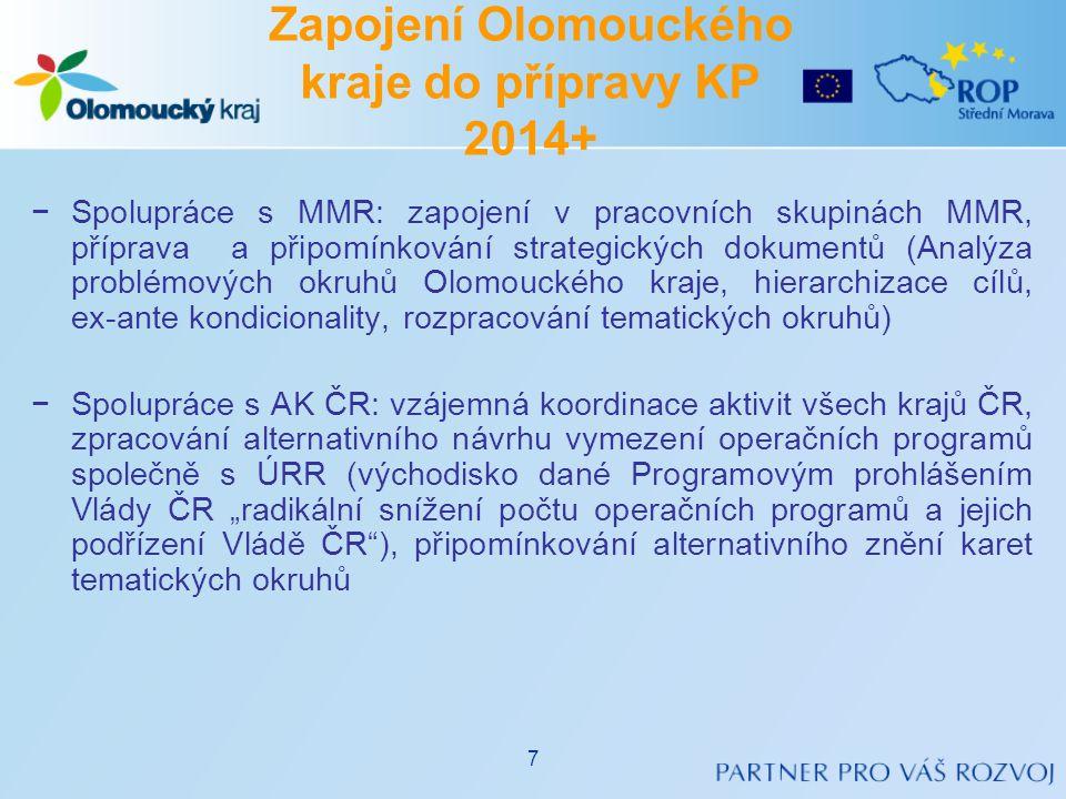 Zapojení Olomouckého kraje do přípravy KP 2014+